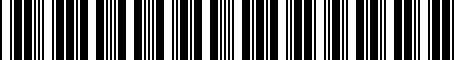 Barcode for 7662642140