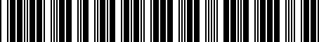 Barcode for PT29A33023