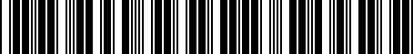 Barcode for PT5770C020