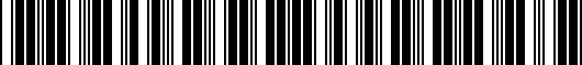 Barcode for PT9070C100FF